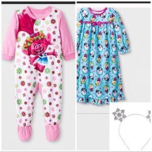Babygirl trolls blanket pajamas
